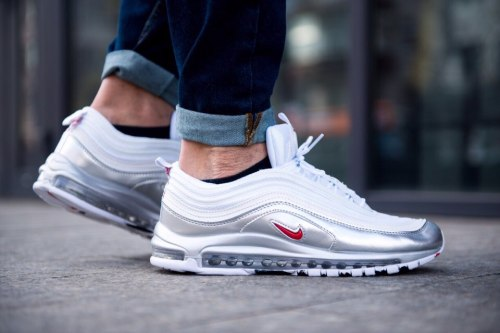 Air Max 97 QS 'White/Metallic Silver Nike