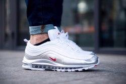 Air Max 97 QS 'White/Metallic Silver Nike