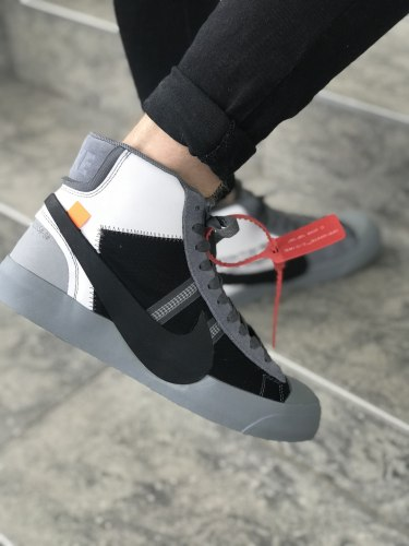 "Off-White x Blazer Mid ""Grey"" Nike"