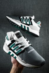 EQT SUPPORT 91/18 CORE BLACK/ CLEAR GRANITE/ SUB GREEN Adidas