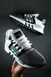 EQT SUPPORT 91/18 CORE BLACK/ CLEAR GRANITE/ DARK GREEN Adidas