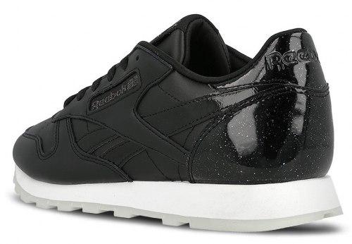 "Кроссовки оригинал Classic Leather L ""Pearl-Black"" (BD5806) Reebok"