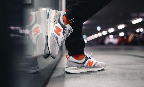 Кроссовки оригинал 'Grey/Orange' (CM997HAG) New Balance