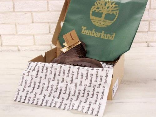 БОТИНКИ TIMBERLAND CLASSIC PREMIUM NUBUCK WATERPROOF ALL BROWN (НАТУРАЛЬНЫЙ МЕХ) Timberland