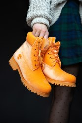 БОТИНКИ TIMBERLAND x OFF WHITE ORANGE (БЕЗ МЕХА) Timberland