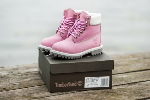 БОТИНКИ TIMBERLAND CLASSIC PREMIUM LEATHER WATERPROOF ROSE (НАТУРАЛЬНЫЙ МЕХ) Timberland