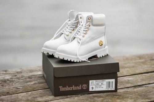 БОТИНКИ TIMBERLAND CLASSIC PREMIUM LEATHER WATERPROOF WHITE (НАТУРАЛЬНЫЙ МЕХ) Timberland