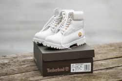 БОТИНКИ TIMBERLAND CLASSIC PREMIUM LEATHER WATERPROOF WHITE (НАТУРАЛЬНЫЙ МЕХ) Timberland