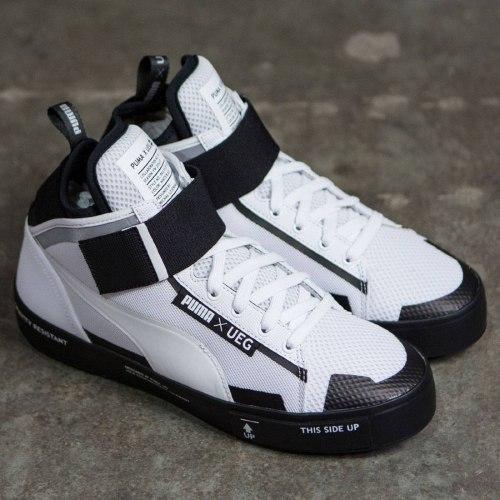 Puma x UEG Court Play White/Black Puma