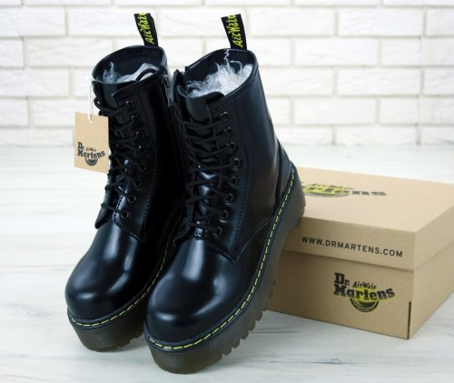 Jadon Black Bright (БЕЗ МЕХА) Dr. Martens