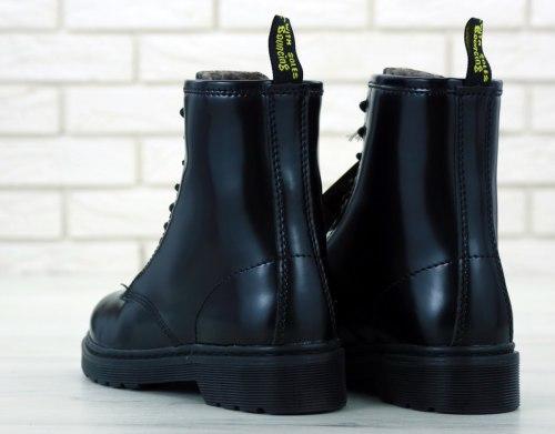 Boots Black Bright (С МЕХОМ) Dr. Martens