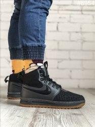 Зимние кроссовки Lunar Duckboot '17 Black Grey (С МЕХОМ) Nike