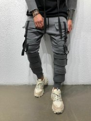 Спортивные штаны Артикул: #ada1008 серые Black Island