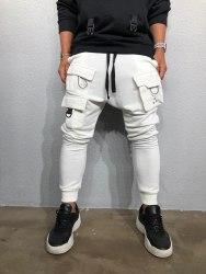 Спортивные штаны Артикул: #ada1014 белый Black Island
