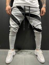 Спортивные штаны Артикул: 5107 бело-чёрные Black Island