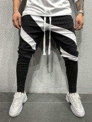 Спортивные штаны Артикул: 5107 чёрные-белые Black Island