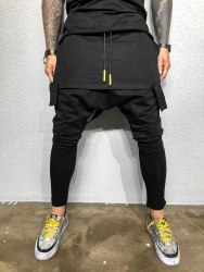 Спортивные штаны Артикул: КА1969 чёрные Black Island