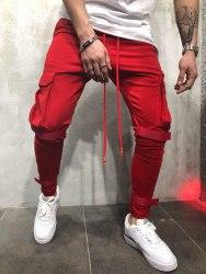 Спортивные штаны Артикул: KA1908 красные Black Island