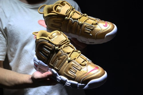 AIR MORE UPTEMPO Gold/White Nike