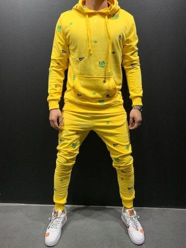 Спортивный костюм 9070 жёлтый Black Island