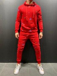 Спортивный костюм 9070 красный Black Island