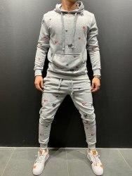 Спортивный костюм 9070 серый Black Island