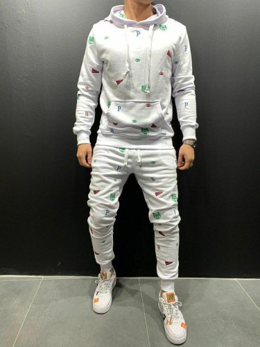 Спортивный костюм 9070 белый Black Island