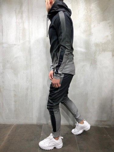 Спортивный костюм BRS-5058 серый Black Island