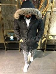 Зимняя Куртка Артикул 3063ч Black Island