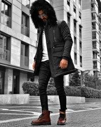 Зимняя Куртка Артикул i4 Black Island
