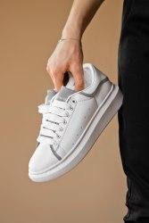 Oversized Sneakers White/Silver Alexander McQueen