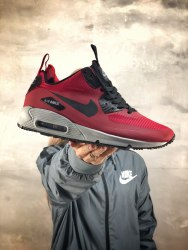 Кроссовки зимние! Air Max 90 Mid Red Winter Nike