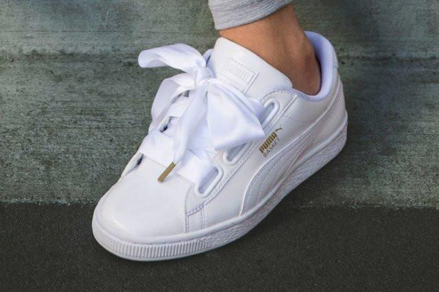 ᐉ Купить кроссовки Suede Heart Patent White Puma – с доставкой в ... 6e9c5946d05ff