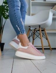 Oversized Sneakers Pink White Alexander McQueen