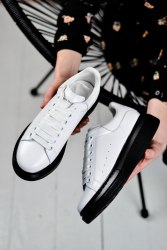 Oversized Sneakers White and Black Alexander McQueen