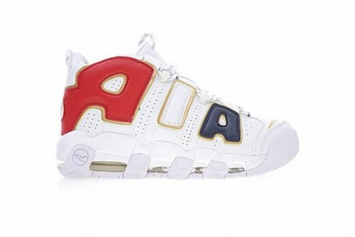 AIR MORE UPTEMPO QS AIR Navy Blue Red Gold White Nike