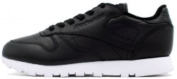 Classic Leather *Pearlized* Black / White Reebok