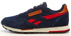 CL Leather Utility Blue/Red Reebok