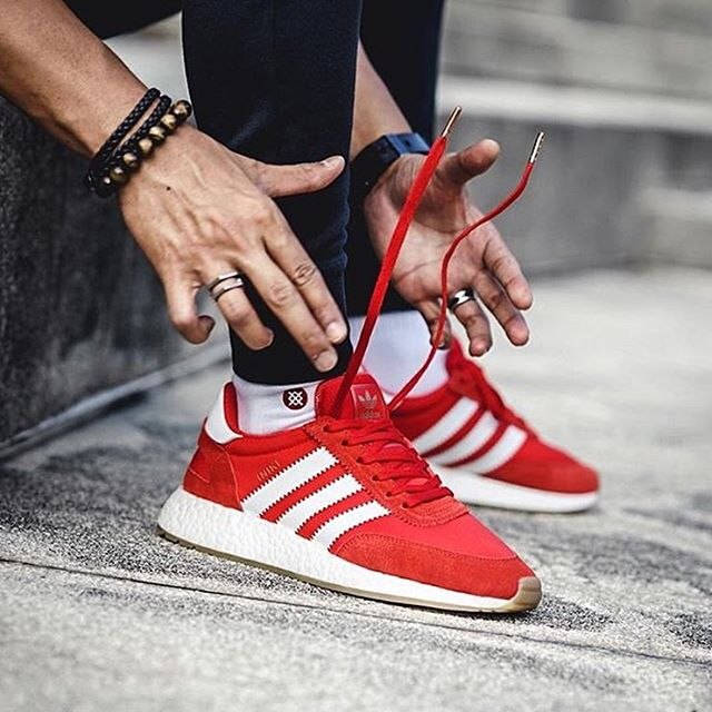 buy popular 43ebe bd42e Iniki Runner Boost Red Adidas