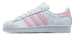 Superstar White/Pink Adidas
