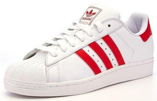 Superstar White-Red Women Adidas
