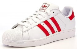 Superstar White-Red Women Adidas