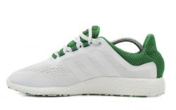 Pure Boost White/Green Adidas