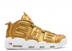 AIR MORE UPTEMPO Gold/White Women Nike