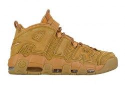 AIR MORE UPTEMPO PRM Wheat Flax-Gum Light Brown Women Nike
