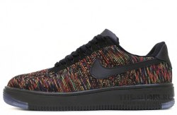 Air Force 1 Low Flyknit Blаck/Bright Crimson Nike