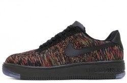 Air Force 1 Low Flyknit Blаck/Bright Crimson Nike