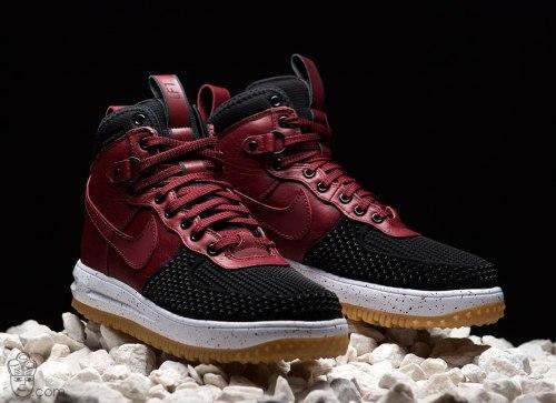 "Air Force 1 Lunar Duckboot ""Red/Black"" Nike"