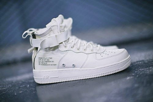 SF Air Force 1 Utility Mid All White Nike