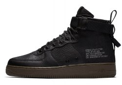 SF Air Force 1 Utility Mid Black/Grey Women Nike